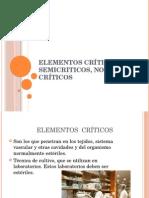 Elementos Cr Ticos Semicriticos No Cr Ticos