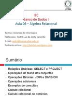 Banco de Dados-Algebra Relacional