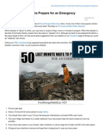 50 Last Minute Ways to Prepare for an Emergency