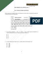 3913-Mininesayo N° 4 Química 2015 Estequiometría y Disoluciones