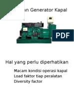 Pemilihan Generator Kapal