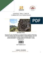 Camino de Culturas Vivas Qñ Informe Finals