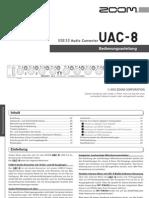 Zoom UAC-8 Bedienungsanleitung (German)