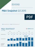 M&A Snapshot Q3 2015