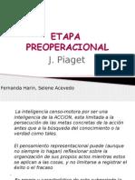 etapa preoperacional Piaget