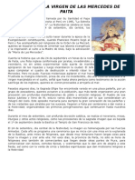 Historia de La Virgen de Las Mercedes de Paita