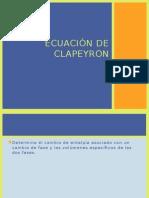 Ecuación de Clapeyron