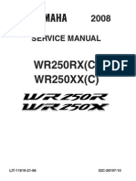 Yamaha WR250X WR250R Workshop Manual 2008-2011
