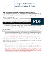 Grupos de Comunhão - Estudo 13.2015 - Domínio Próprio