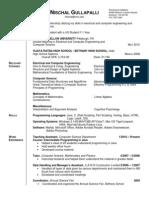 Resume - Internship