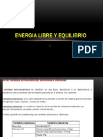 Energia Libre y Equilibrio