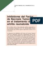 Inhibidores de Necrosis Tumoral en El Tratamiento de La Artritis Reumatoide