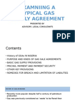 Examniing a Typical Gas Supply Agreement [552022]
