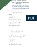 Balotario Del Examen Parcial de Funciones Analiticas