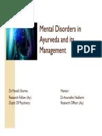 Mental Disorders in Ayurveda
