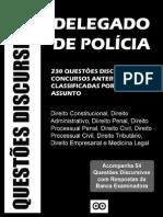 230 Questões Discursivas Para Delegado de Polícia
