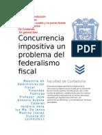 Concurrencia Impositiva Un Problema Del Federalismo