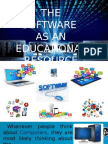 the software as an educ  resource