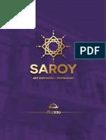 Saroy Art Choyhona Menu