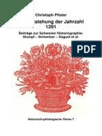 Pfister Christoph Entstehung Jahrzahl 1291