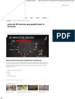 Rutina de 20 Minutos Que Puede Hacer La Diferencia - Daniel Cortés Sitio Oficial
