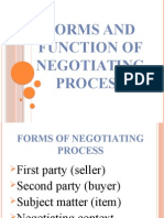 Forms and Function of Negotiating Process