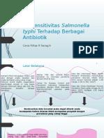 Uji Sensitivitas Salmonella Typhi Terhadap Berbagai Antibiotik