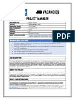 Job Advertisement - Project Manager