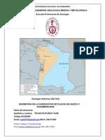 Geometria de Subduccion de La Placa de Nazca y La Placa Sudamericana