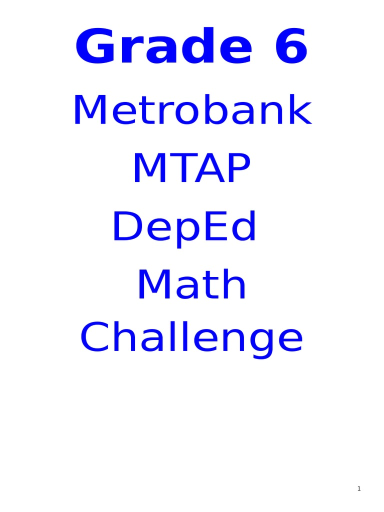 MTAP Part 1 | Fraction (Mathematics) | Triangle