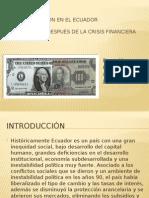 Feriado Bancario en El Ecuador