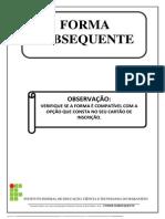 Questões Subsequentes de Lingua Portuguesa
