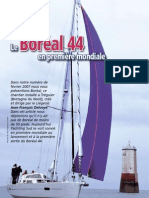 Essai Boréal 44 - Article  Yachting Sud - mai 2009