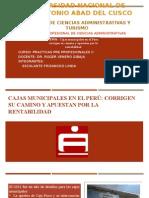Cajas Municipales en El Perú