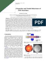 Mechanical behavior of TMT bars