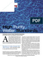 High Purity Water Standards