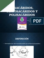 Disacáridos Oligosacaridos y Polisacáridos