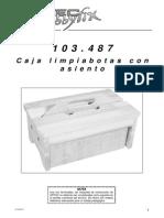 Caja Limpiabotas Con Taburete de Madera - 103487bm