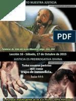 Lección 16 - Cristo Nuestra Justicia