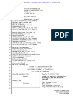 15-10-15 Oracle Motion to Disqualify Damages Expert