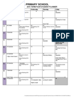 Term Four 2015 Student Planner