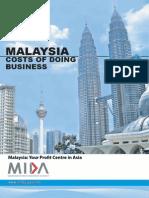 MIDA Malaysia Cost of Doing Business