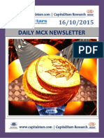 MCX COMMODITY MARKET TIPS FOR 16 OCT 2015