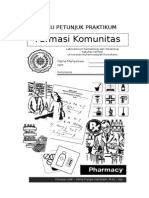 Cover Buku Petunjuk Praktikum Farmasi Komunitas 2013