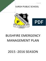 Bushfire Plan 2015 - 2016