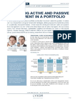 COMBINING ACTIVE AND PASSIVE MANAGEMENT IN A PORTFOLIO