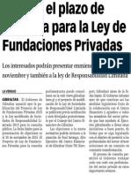 151016 La Verdad CG- Abierto El Plazo de Consulta Para La Ley de Fundaciones Privadas p.8
