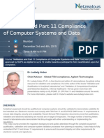India Conference on Validation and Part 11 Compliance of Computer Systems and Data