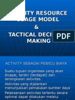 Activity Resource Usage Model Pert 2