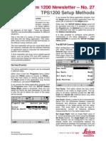 System1200 27 TPS1200 Setup Methods En